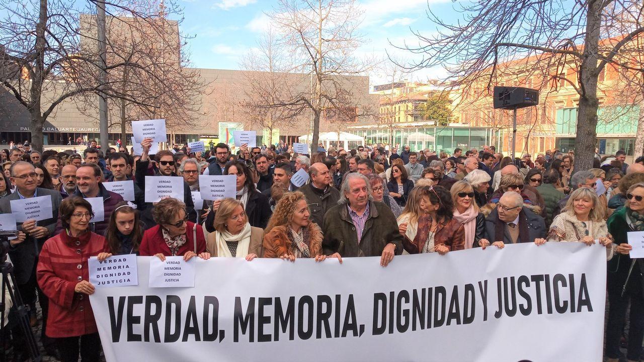 Acto en Pamplona en memoria de las victimas de ETA el pasado mes de febrero