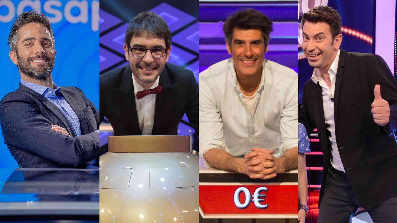 La gala de regreso de «OT 2020», en fotos.Roberto Leal, Juanra Bonet, Jorge Fernández y Arturo Valls