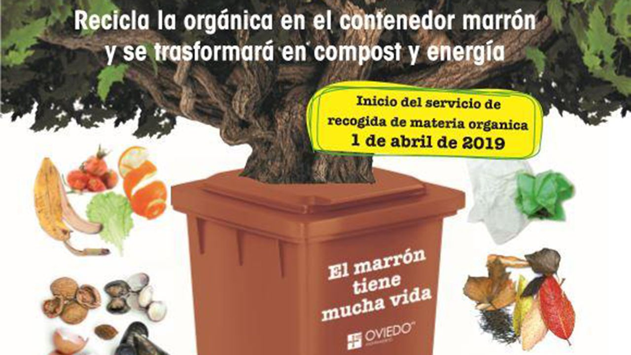 Cartel promocional del cubo marrón