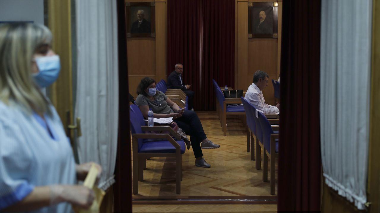 Mitin de Pedro Sánchez en Ourense.El pleno se celebró con aforo reducido y medidas de higiene