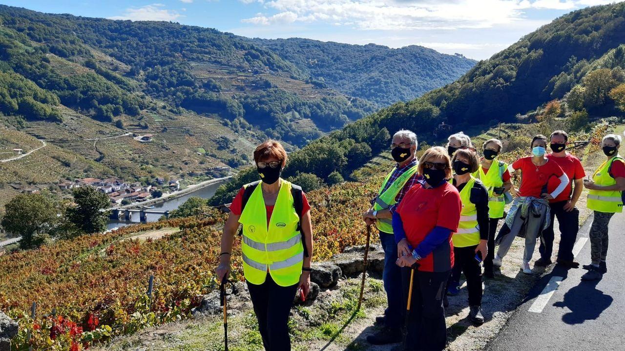 Participantes en el recorrido, que discurrió por el tramo de Chantada