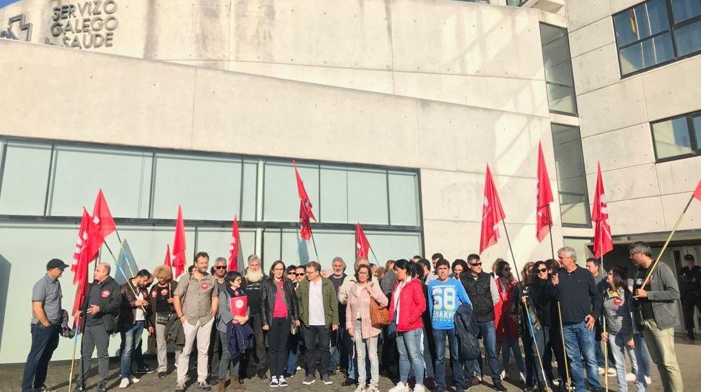Imagen de archivo de una manifestación ante Sanidade