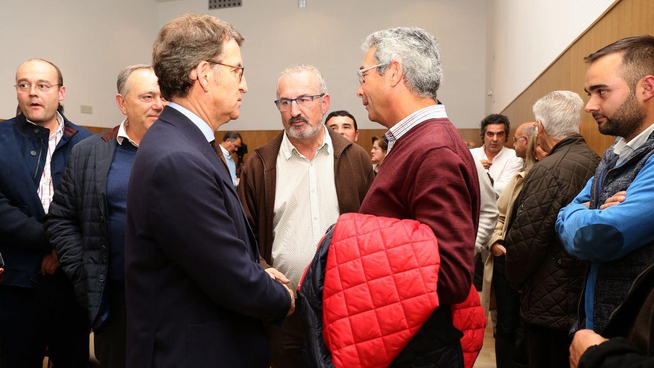 Feijóo promete en Carballo la ampliación del polígono de Bértoa