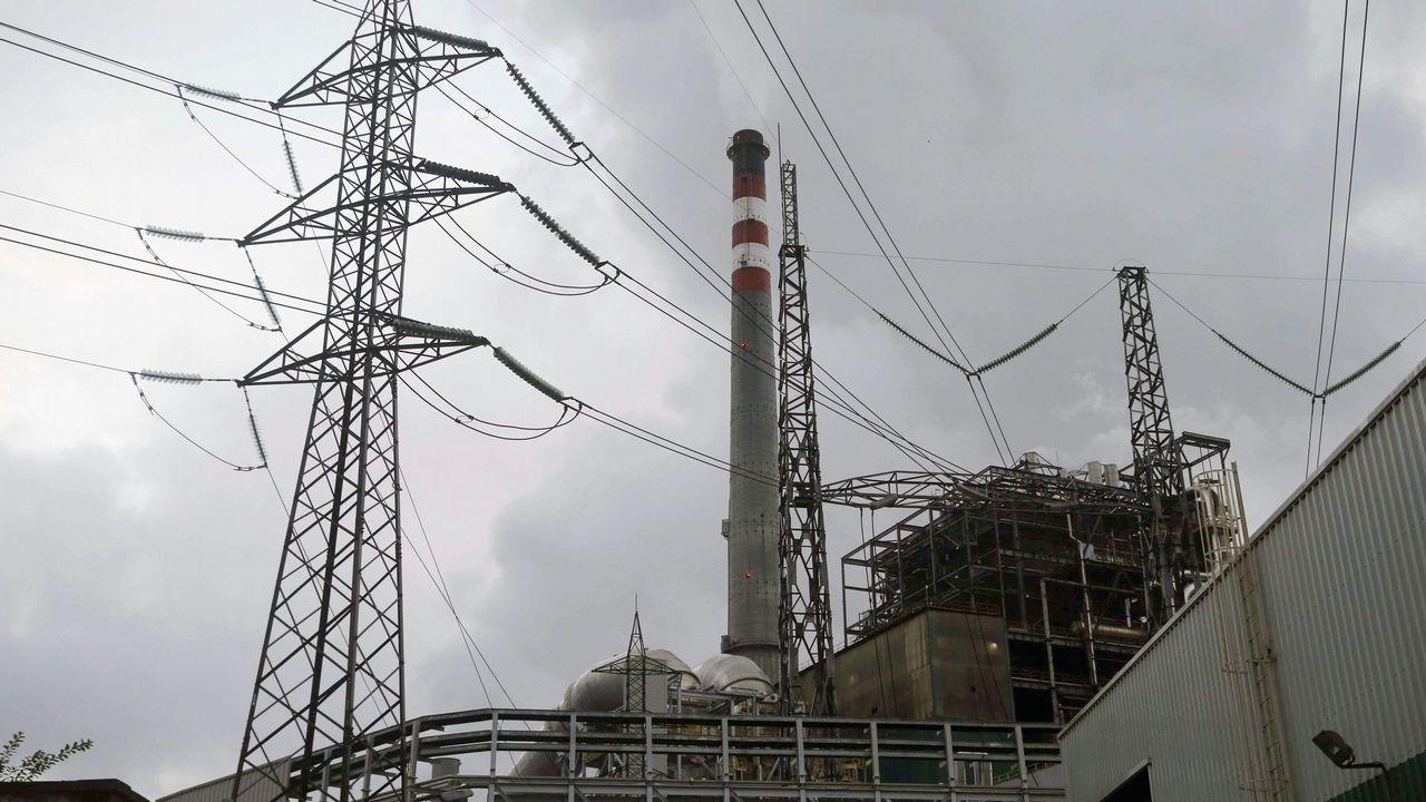 Central térmica que Iberdrola tiene en Lada (Langreo)
