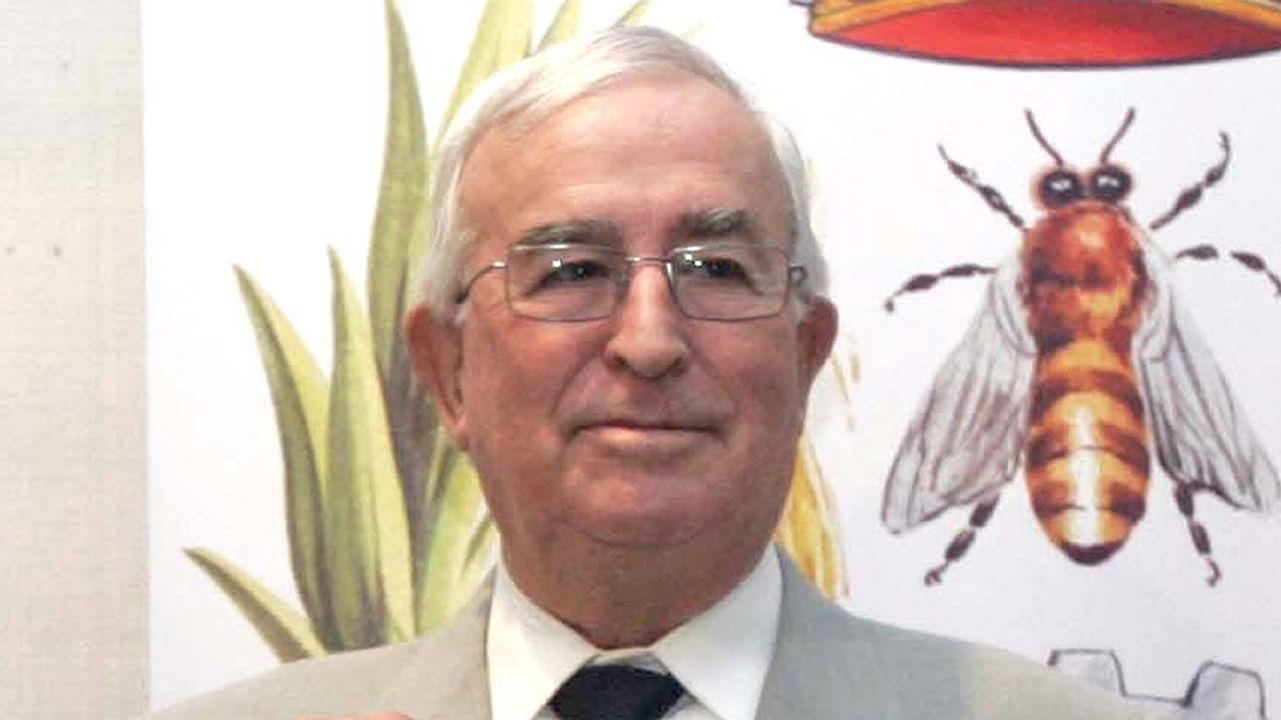 Bernardo Pena Trapero, durante la entrega de un premio en Vigo en el año 2011