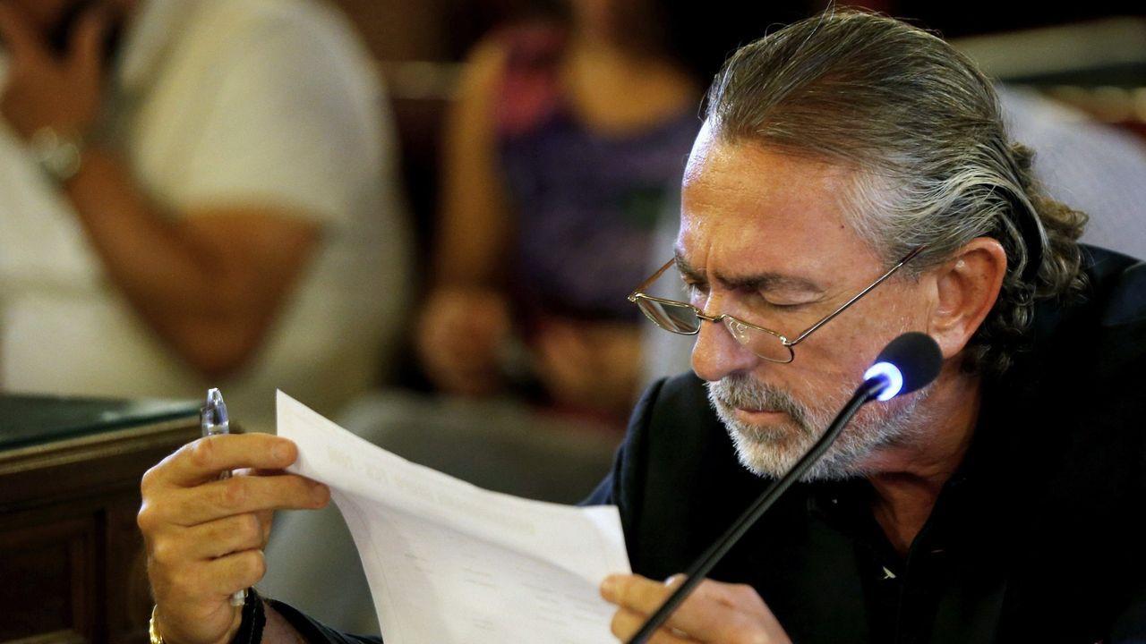 Luis Bárcenas, a su llegada al juicio de la trama Gürtel