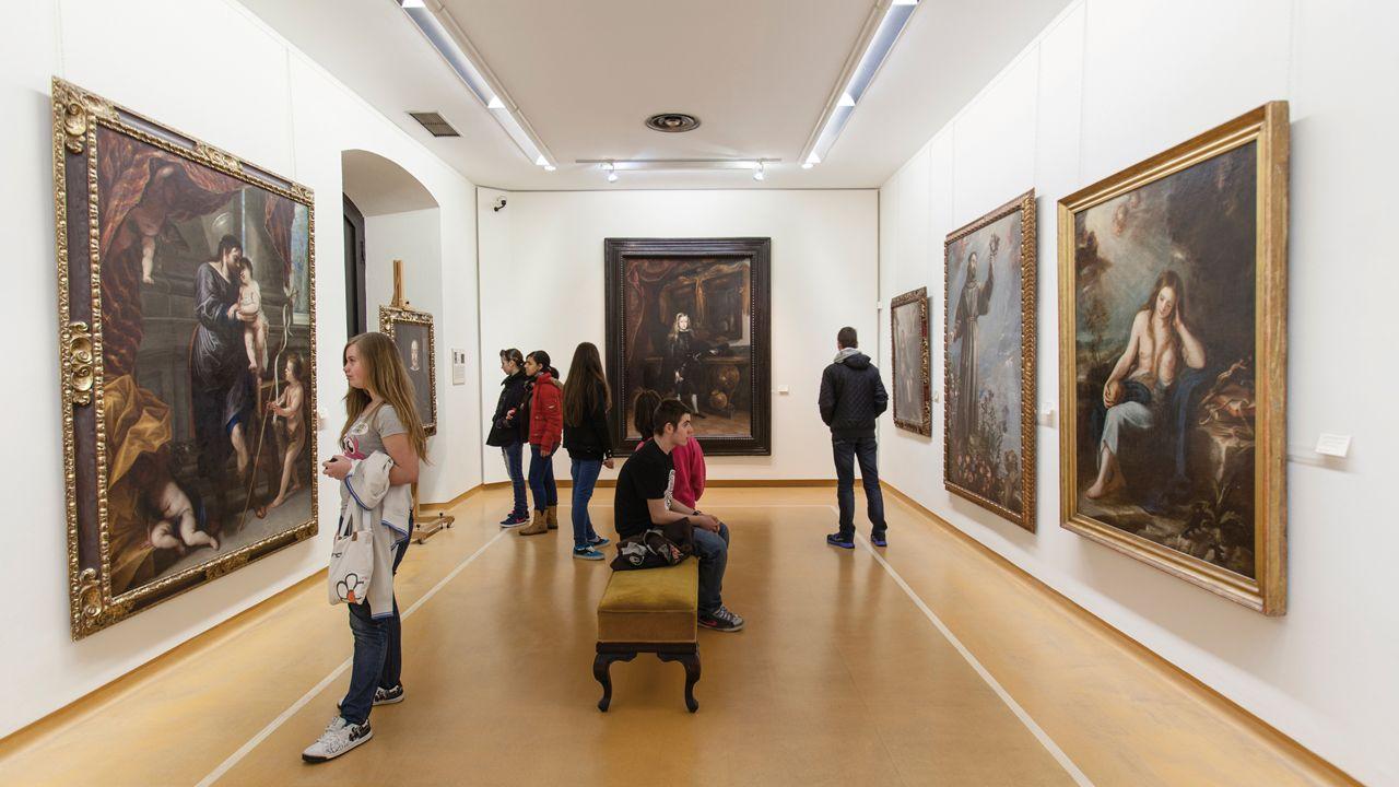 Rincones de Oviedo.Interior del Museo de Bellas Artes