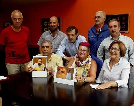 Acto de presentación del homenaje, ayer en Vilagarcía.