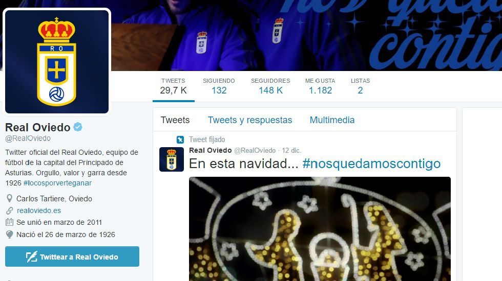 ausbanch.Perfil de Twitter del Real Oviedo