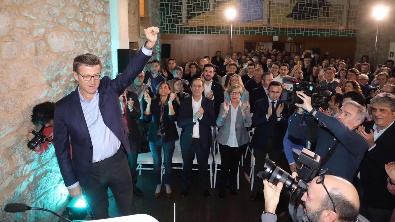 Alberto Núñez Feijóo anuncia su candidatura para aspirar a un cuarto mandato en la Xunta