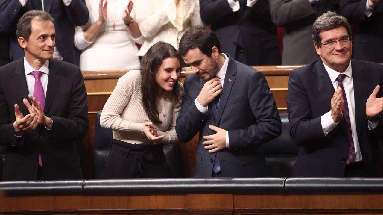 La relación de Felipe VI y Marín.Pedro Sánchez y Pablo Iglesias, en el Congreso