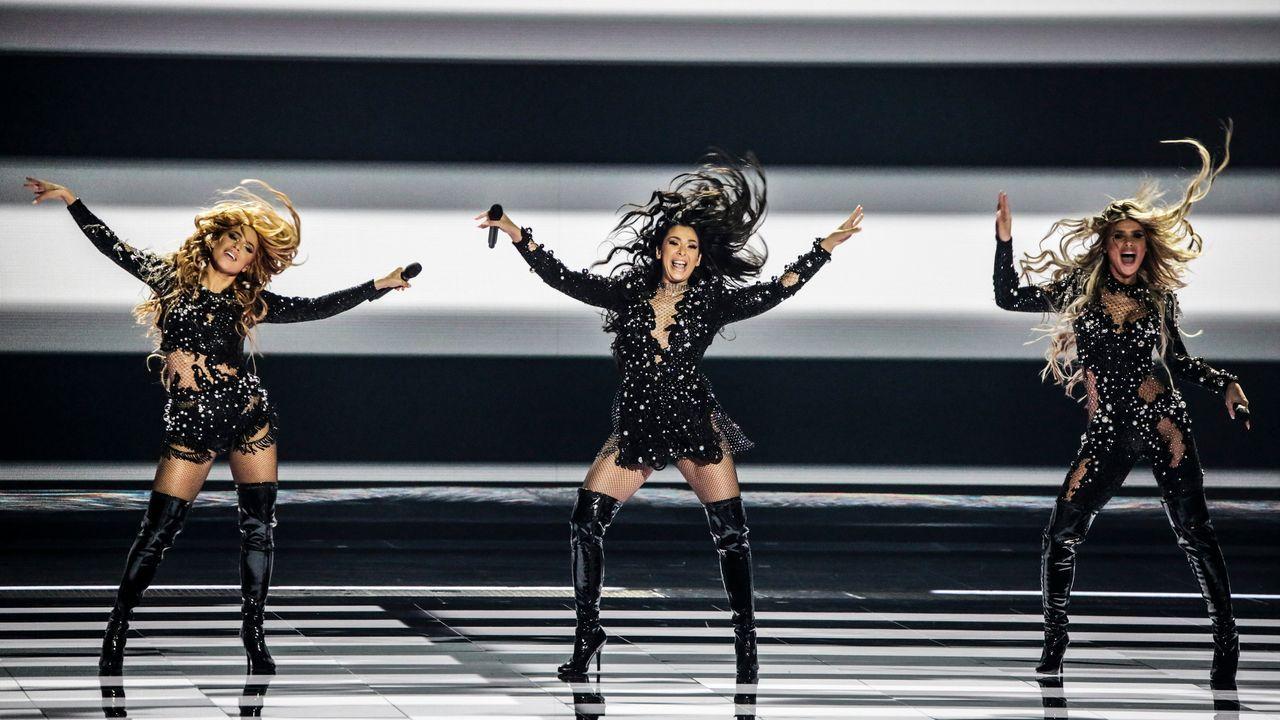 Los diez países clasificados de la segunda semifinal de Eurovisión 2021.Ciudadanos palestinos celebran el alto el fuego