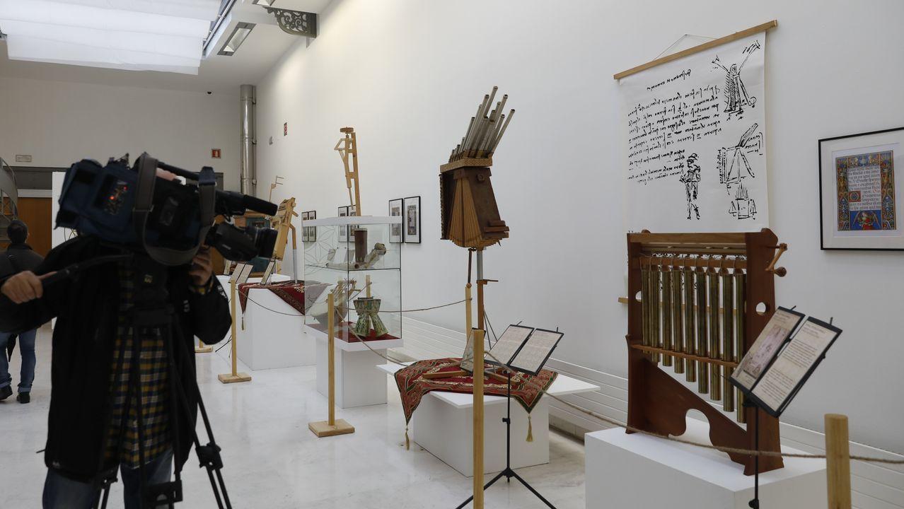 Coleccionistas que cedieron obra y autoridades, en la presentación del libro en el museo de Lalín