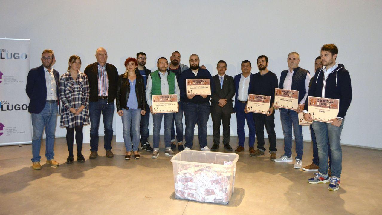 Ganadores del último concurso de tapas de Lugo y que podrían acudir a la fase final de Madrid