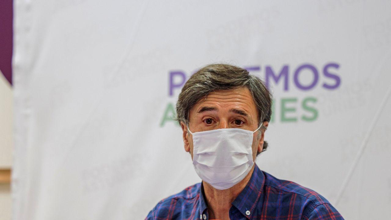 Uno de los portavoces del Consejo Ciudadano Autonómico de Podemos Asturies, Enrique López ha asegurado en rueda de prensa