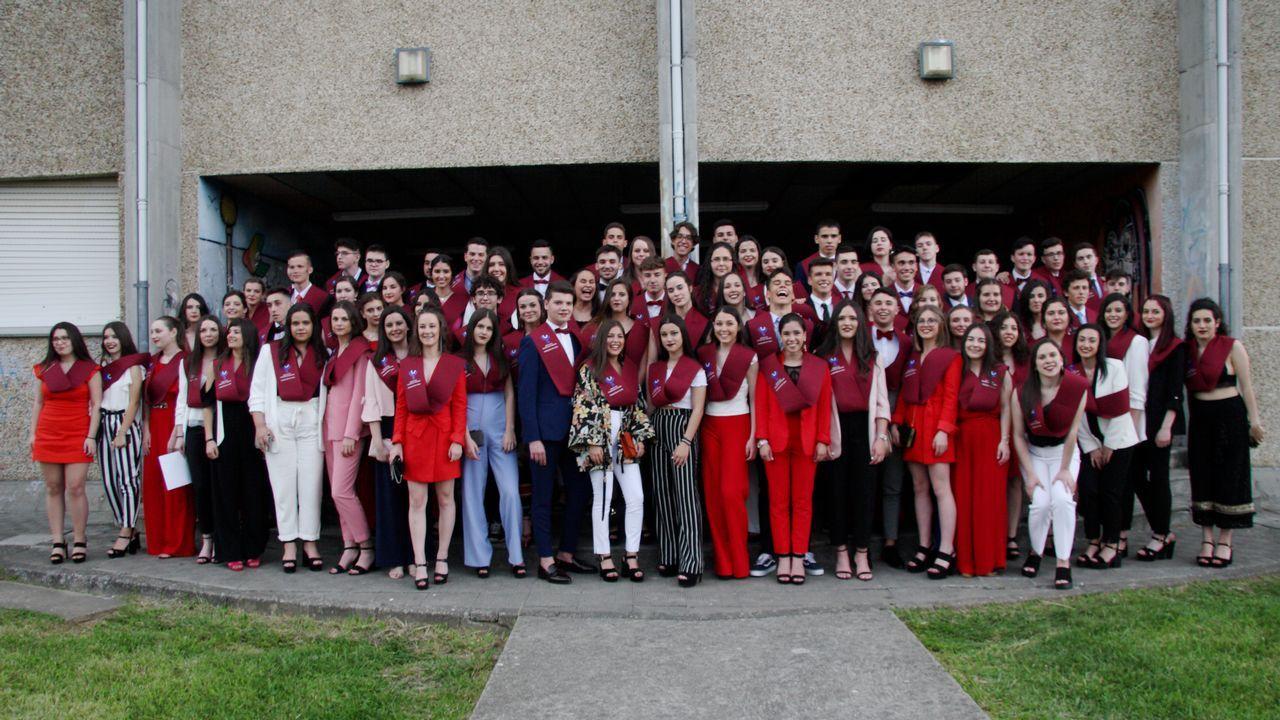 Graduación de los alumnos del instituto Francisco Aguiar de Betanzos