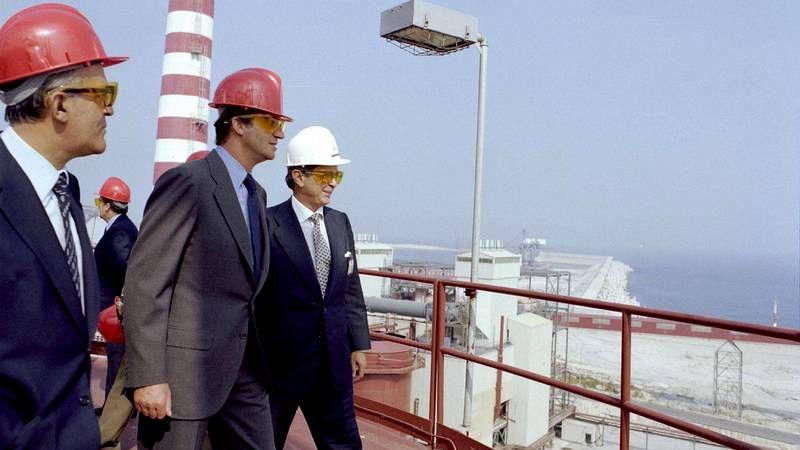 Juan Carlos y el príncipe Felipe, primer acto oficial juntos tras la abdicación
