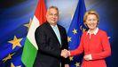 Orbán acusa a Von der Leyen de doble rasero al decir que le preocupa especialmente el caso de Hungría.