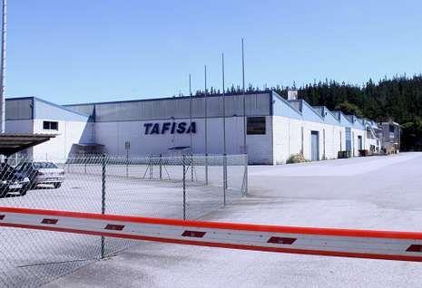 La fábrica de Tafisa en A Reigosa lleva alrededor de tres meses sin producir nada.