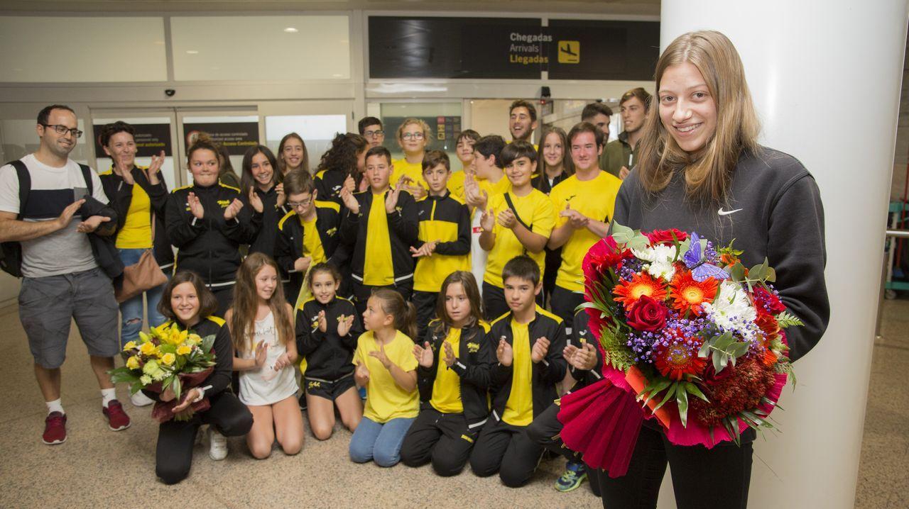 Así recibieron a la joven Noelia Loureiro, subcampeona de Europa de Salvamento y Socorrismo