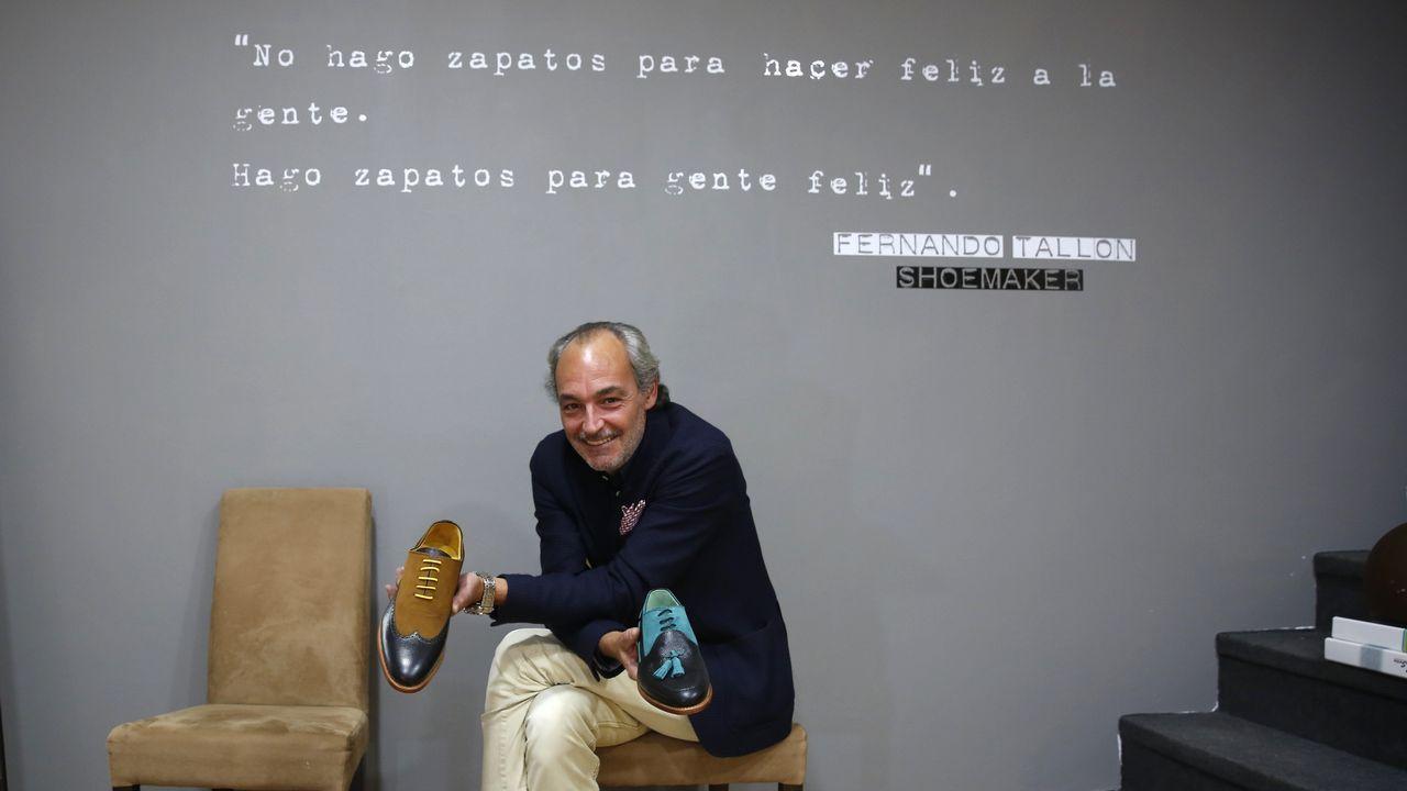 Severo Ochoa en el instituto que lleva su nombre en Luarca