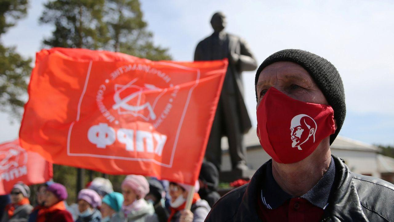 El mundo, entre la desinfección yla nueva cotidianidad.Los comunistas rusos han demostrado no estar dispuestos a dejar pasar el 150 aniversario del nacimiento de Lenin, el 22 de abril
