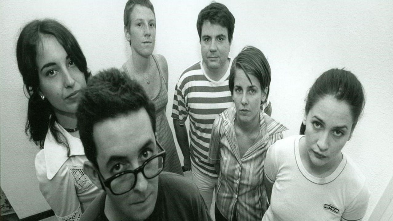 Inés Bayo (primera por la derecha), con la formación original de Los Fresones Rebeldes