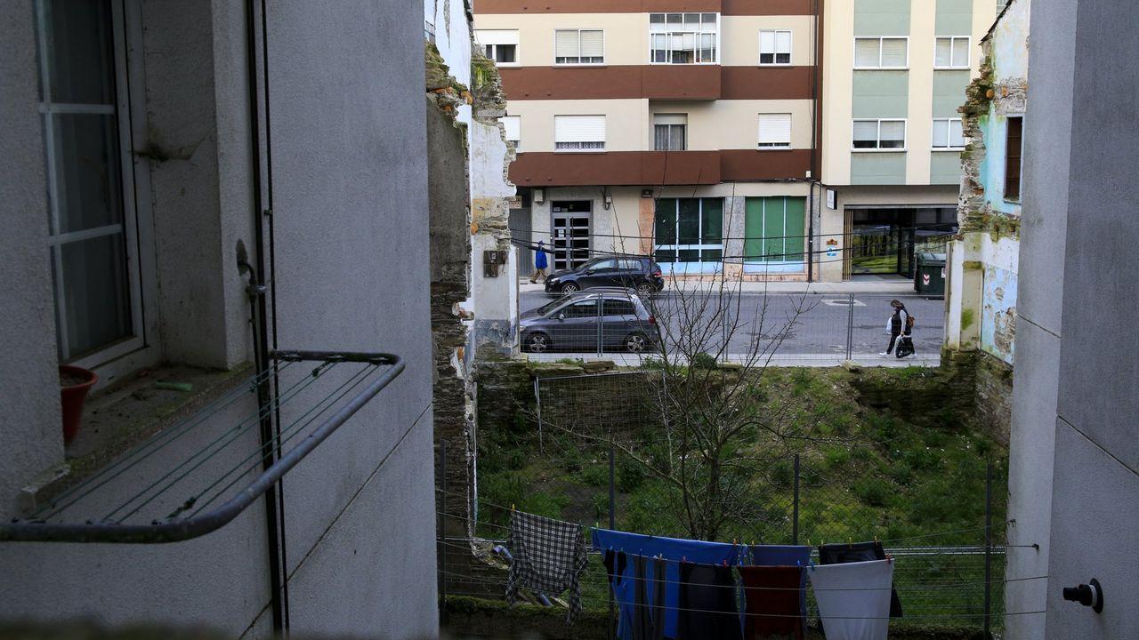 Estado actual de la parcela de la calle Calvo Sotelo, donde se encontraba el antiguo cuartel de la Guardia Civil