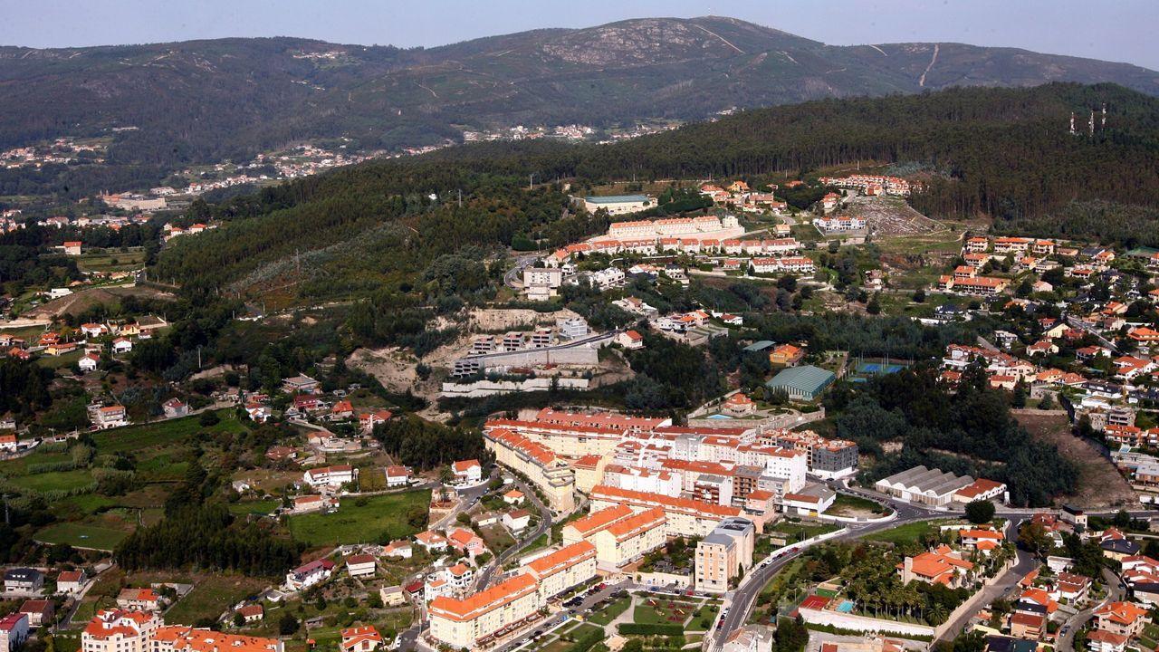 Fotografía aérea de la zona de A Caeira tomada en septiembre del 2011