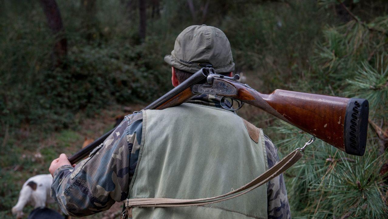 Un cazador en la provincia de Ourense