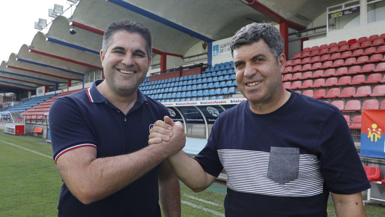 Camilo Díaz y Ramón Dacosta, presidentes de Ourense CF y UD Ourense, en una imagen de archivo