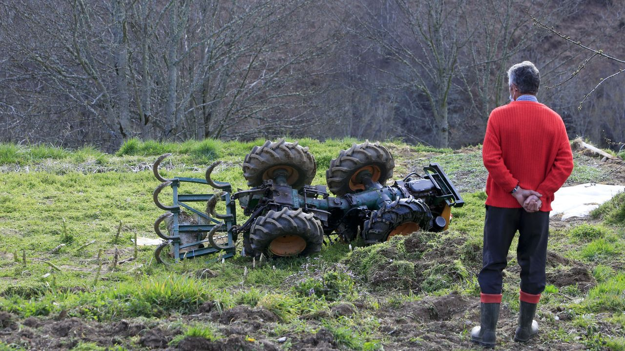 Un vecino de Pedrafita do Cebreiro fallece en el vuelco con su tractor.Abren una pista cerca de Deva, en el corazón de la reserva de Os Ancares