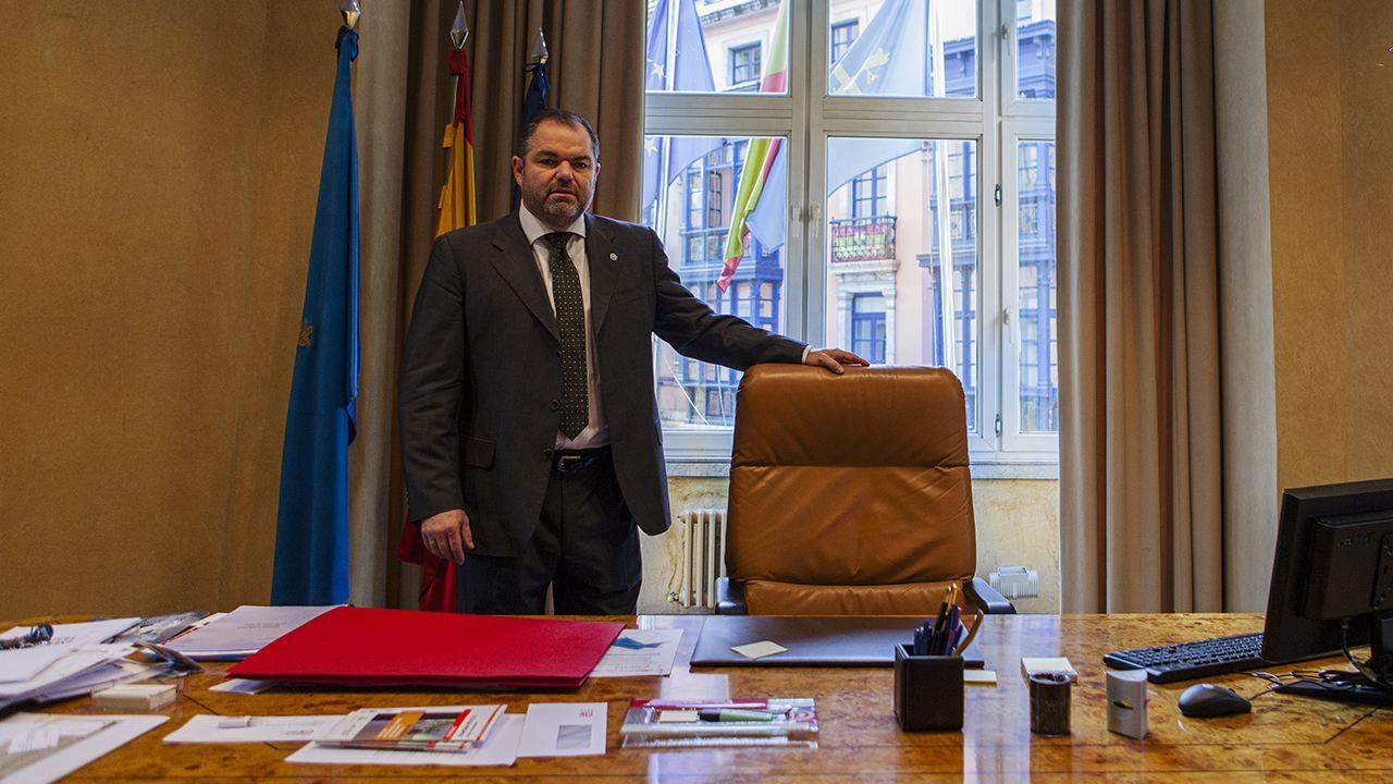 Queso cabrales.Carlos Paniceres, presidente de la Cámara de Comercio de Oviedo