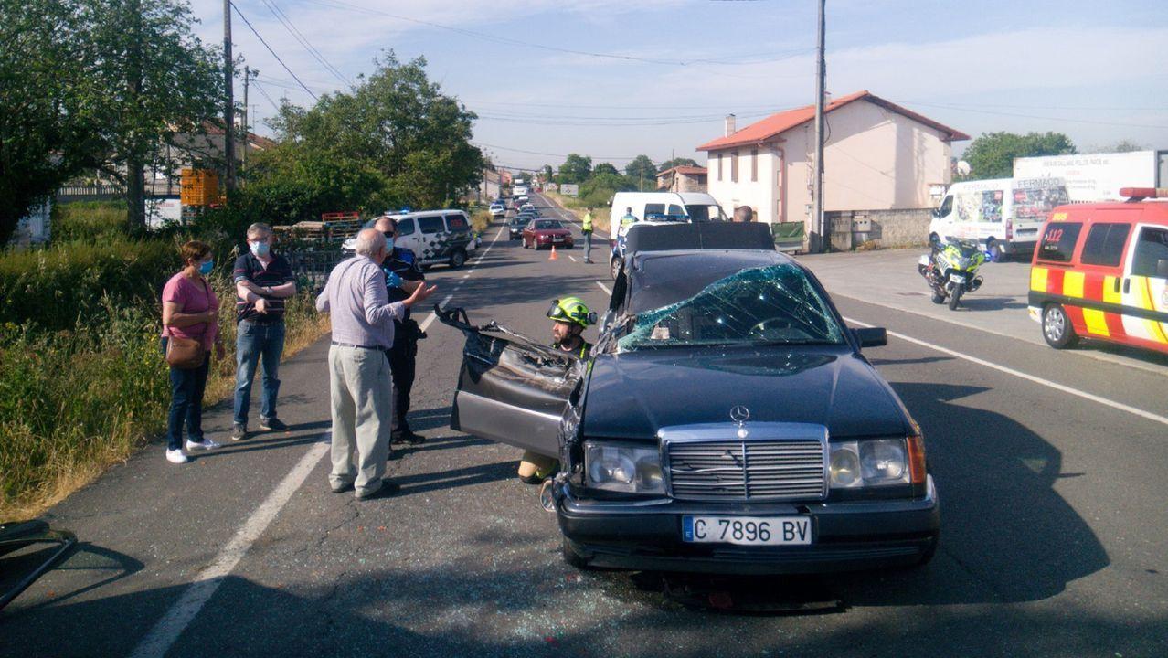 El accidente ocurrió en la carretera de Ferrol a Valdoviño, a la altura de Castro