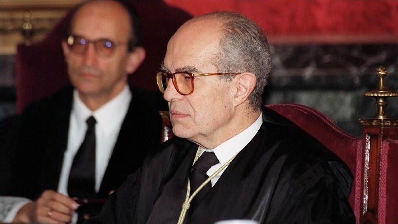 Hospital Valle del Nalón.José María Luzón, durante el juicio del caso Marey