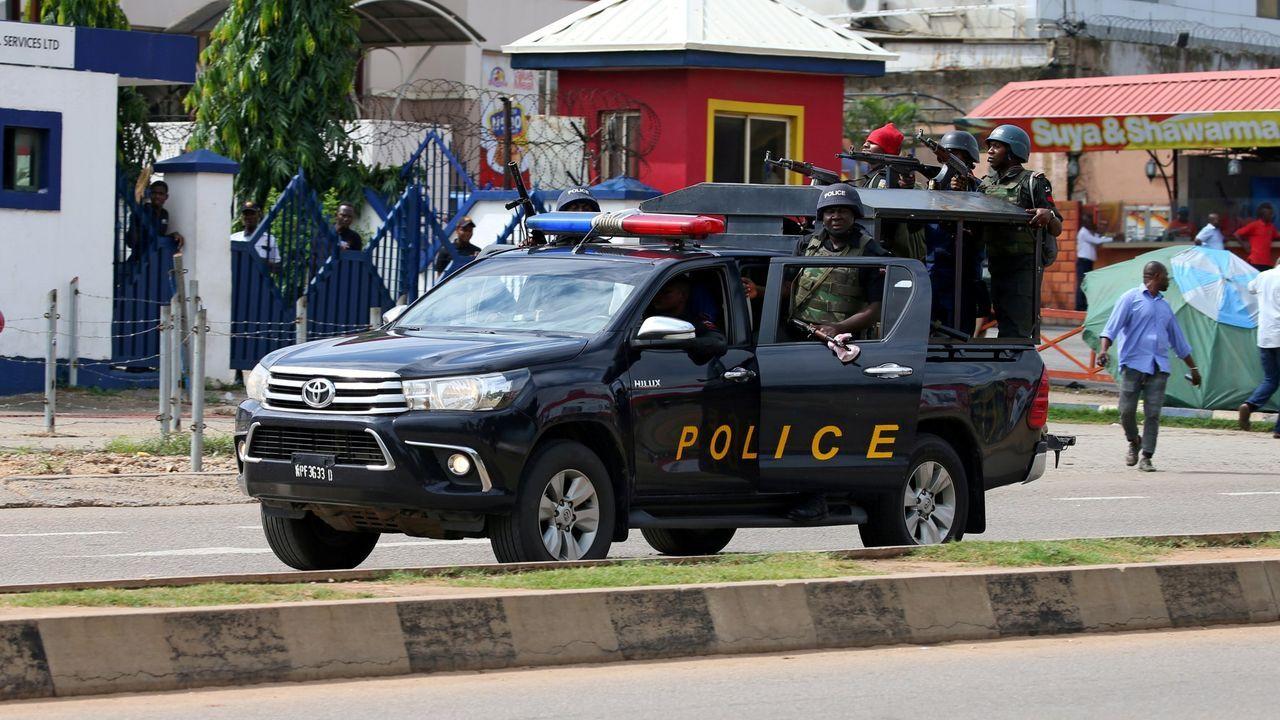 Imagen de archivo de un vehículo policial en Nigeria