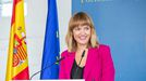 Fotografía de la ministra de Educación y Formación Profesional, Pilar Alegría, en rueda de prensa
