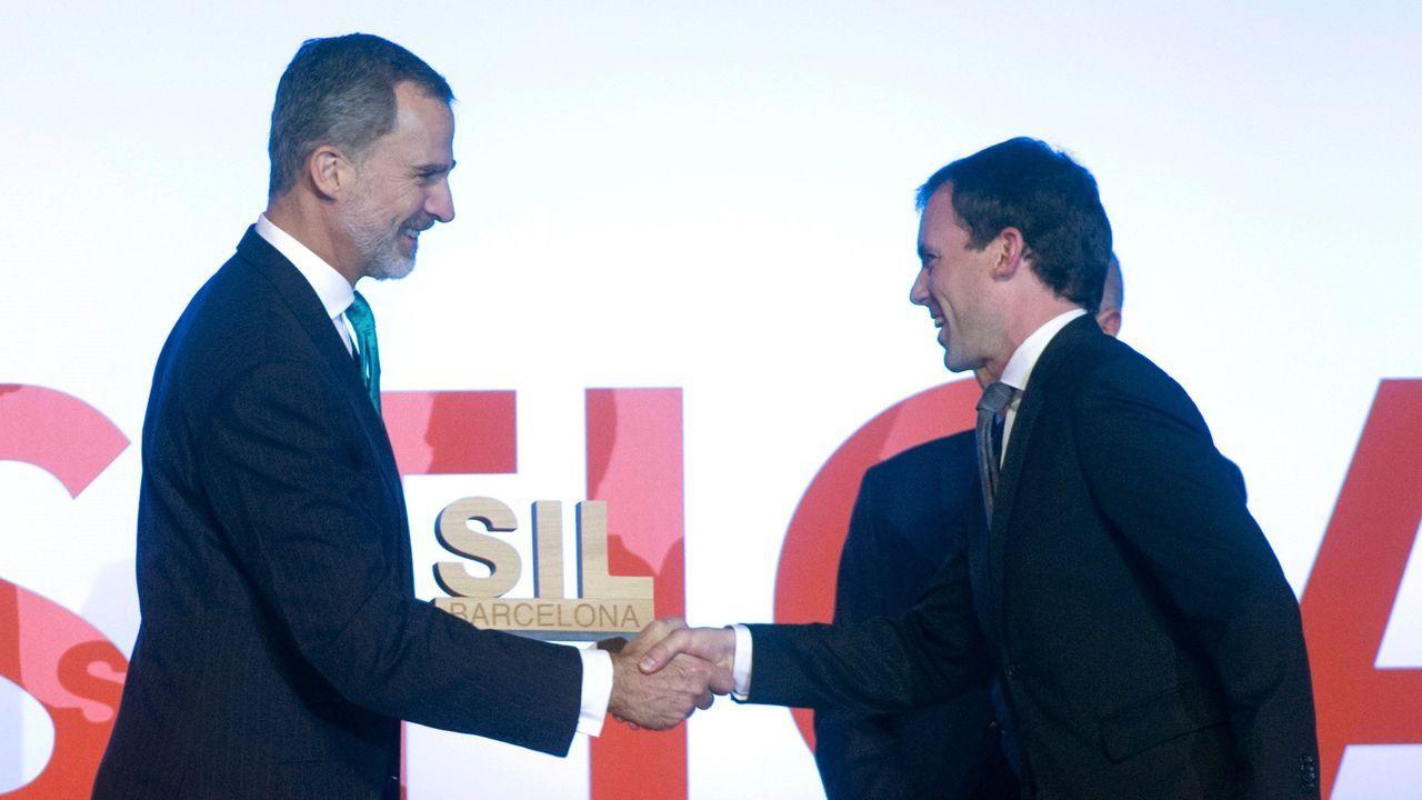 Felipe VI estuvo a finales del pasado mes en Cataluña entregando el premio SIl a la eficiencia logística, un acto  celebrado en Barcelona