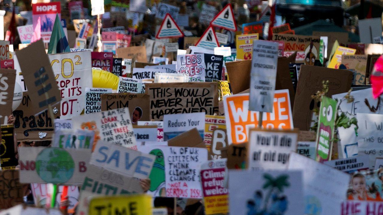 Marcha en el centro de Londres
