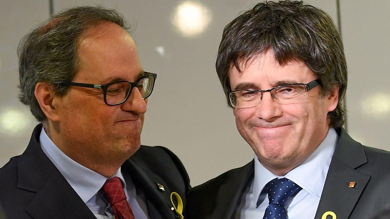 Escaño vacío de Mariano Rajoy al inicio de la segunda jornada del debate de la moción de censura.