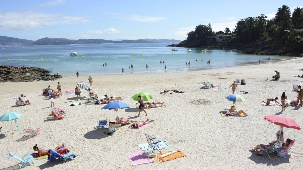 Las playas de bandera azul de la ría de Pontevedra 2021.Estructura de la plaza de abastos de Cantodarea, que será derribada