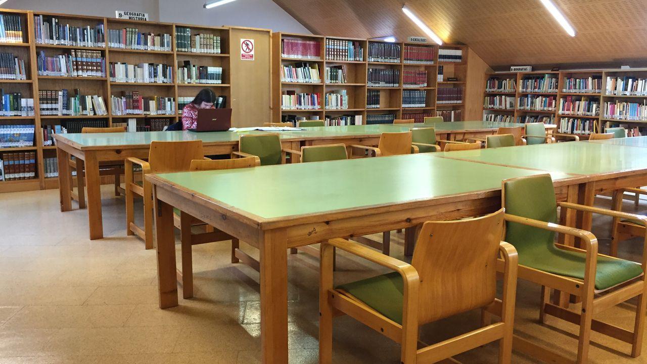 La biblioteca de Vilagarcía, con una única usuaria