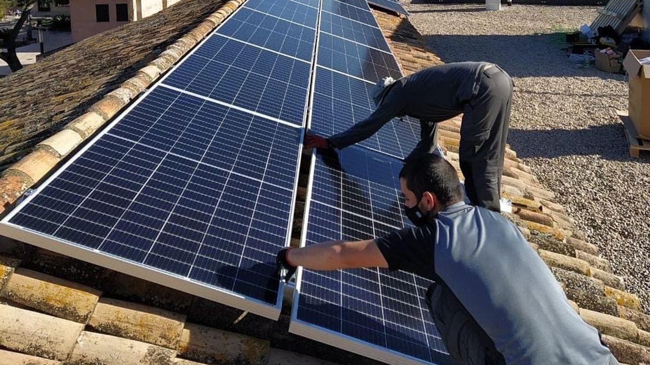Instalación de un panel solar