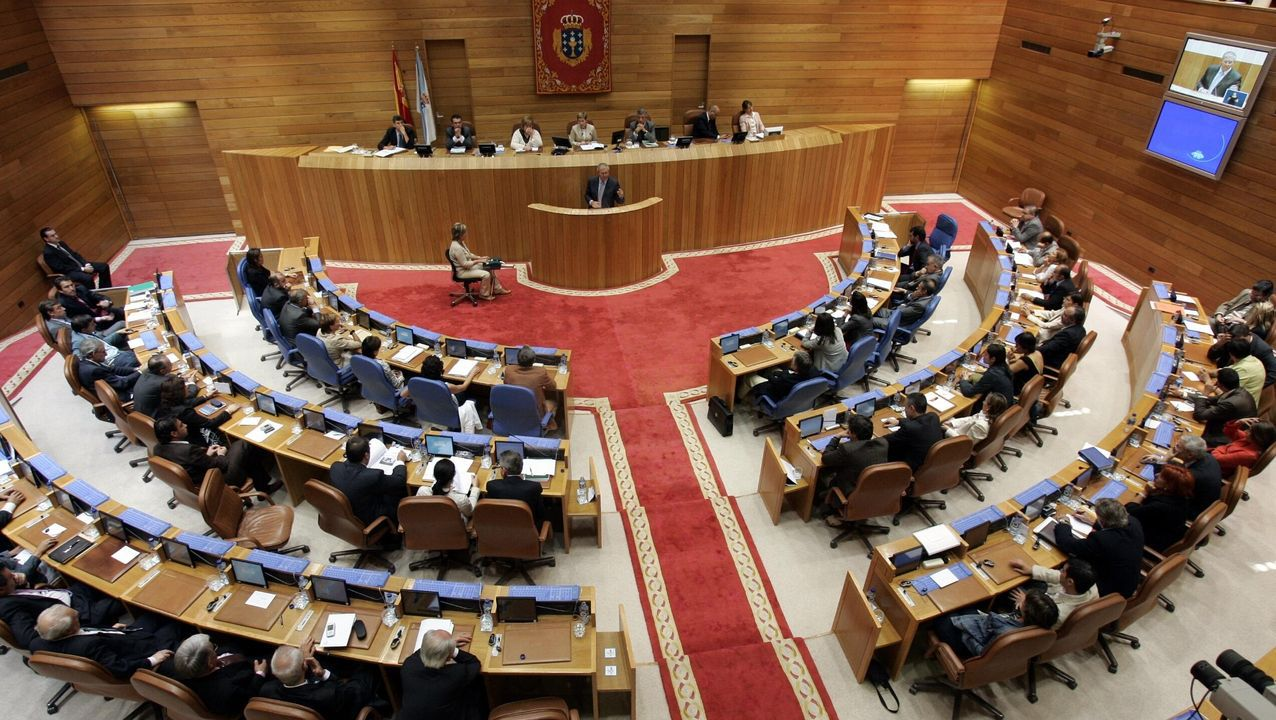Vista del Parlamento de Galicia