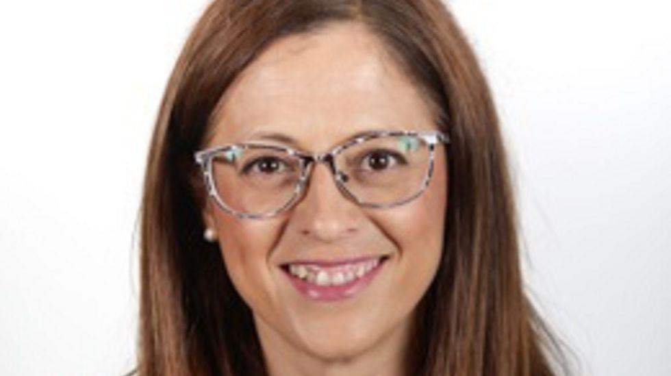 Belén Gualda, ahora presidenta de SEPI, en su visita a Navantia Ferrol