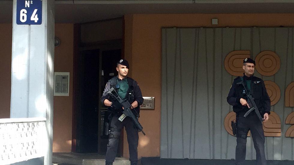 El momento de la detención en Boiro