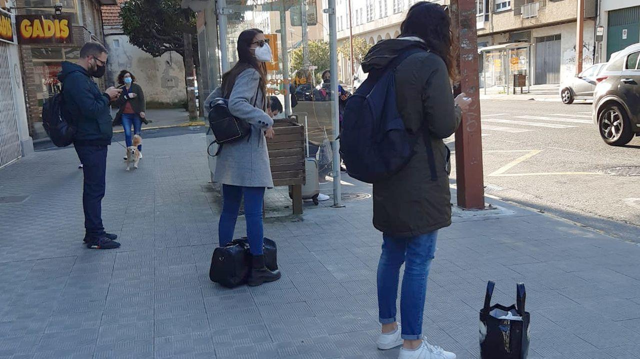 Imagen tomada el domingo, en la parada de Fene