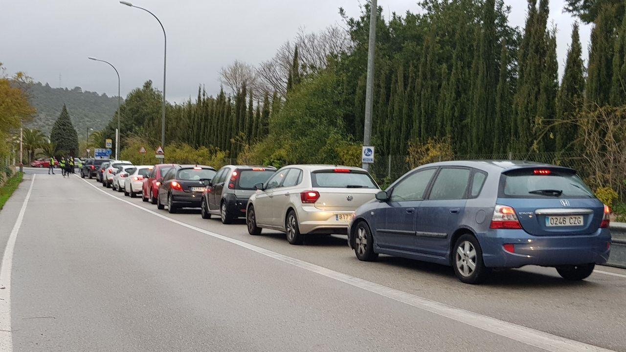 Protestas en la Universidad de Baleares por el encarcelamiento del rapero Hasel que han provocado retenciones de tráfico en los accesos a las instalaciones