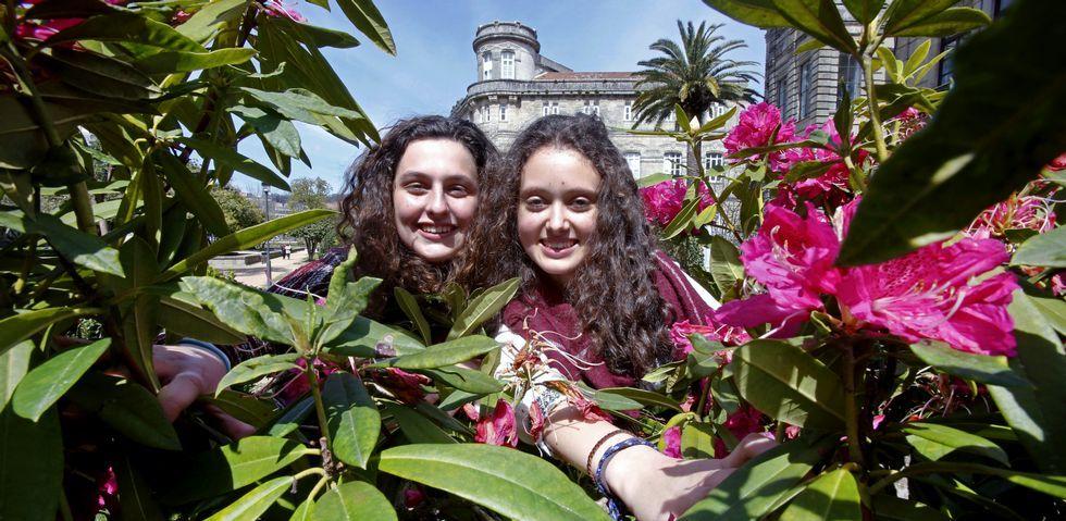 Julia Baena y Elba García tuvieron que hacer un trabajo de investigación y un proyecto de emprendimiento cada una para la Ruta.
