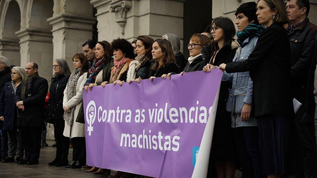 Concentraciones por el crimen machista de A Pastoriza.Concentración contra violencia machista en Maria Pita